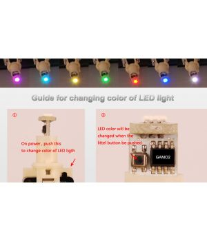 C33 guide for 7 color LED light changing color